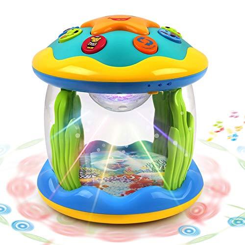 WRUMLJUFX Baby Hand Schlagzeug Kinder Musik Pat Trommel Puzzle 1 Jahr Alt 6-12 Monate 0 Baby Spielzeug, Bild Farbe
