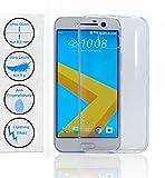 HTC 10 (5,2 Zoll) Transparent Ultra Dünne & Leichte Handyhülle Anti-Fingerabdruck Lightning Effekt Durchsichtig Farblos Hülle Handyschale Schutzhülle Case TPU Silikon - KaroAss