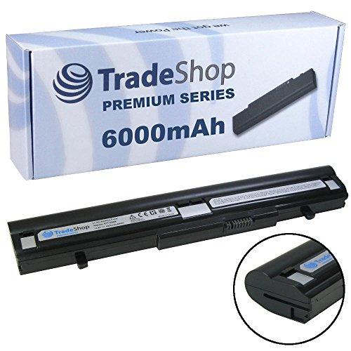 6000mAh Trade-Shop Premium Series Li-Ion Akku 14,4V/14,8V für Medion Akoya P6622 P6630 P6624 P6632 P6812 E6213 E6214 E6220 E6224 E6226 (Original Akkuform, kein Überstehen, kein Schrägstellen)