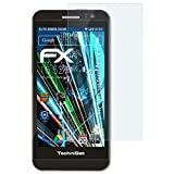 atFolix Schutzfolie kompatibel mit Technisat TechniPhone 5 Panzerfolie, ultraklare und stoßdämpfende FX Folie (3X)