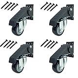 GBL - Set di 4 Ruote per Banco da Lavoro 225KG Tavolo Ruote per Mobili, Carrelli Rotelle Piroettanti Girevoli (Heavy Duty Rotelle)