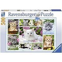 Ravensburger Poesjes in hun mandje 500pc(s) - puzzles (Jigsaw puzzle, Fauna, 9 year(s), 490 mm, 360 mm, 340 x 230 x 40 mm)