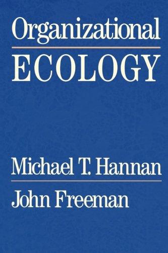 Organizational Ecology por Michael T. Hannan