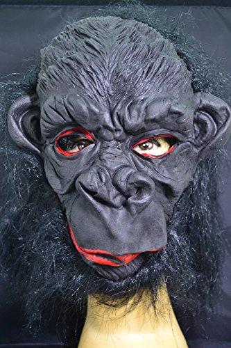Smartfox Halloween Latex Maske - Affe (Affe Halloween Maske)