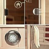 Home Deluxe – Infrarotkabine – California L – Keramikstrahler – Holz: Hemlocktanne - Maße: 130 x 120 x 195 cm – inkl. vielen Extras und komplettem Zubehör - 9
