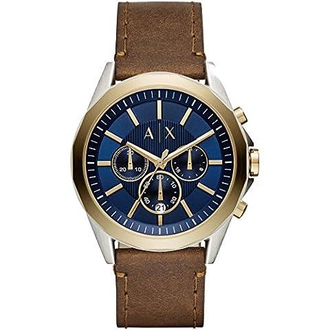 Armani Exchange Herren-Armbanduhr Quarz One Size, blau, braun