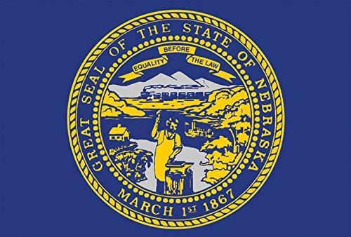 ebraska State Flagge 28x40 Zoll Deko USA Haus Flagge ()