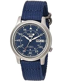 Seiko - SNK807K2-5 Gent - Montre Homme - Automatique Analogique - Cadran Bleu - Bracelet Tissu Bleu