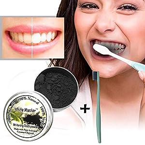 Cooljun Aktivkohle,Bleaching Zähne,zahnaufhellung,Natürliche Zahnaufhellung,Teeth Whitening,Activated Charcoal Teeth Whitening Powder – zur Zahnaufhellung & Zahnreinigung für natürlich weiße Zähne