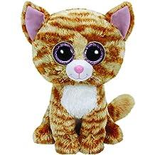 Ty - Tabitha, peluche gato, 23 cm, color amarillo (37034TY)