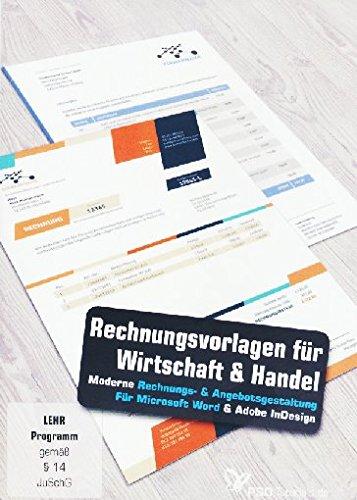 Rechnungsvorlagen für Wirtschaft, Handel und Dienstleistung (PC+Mac)