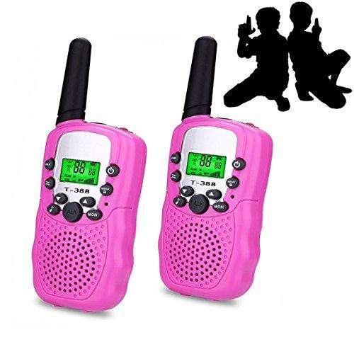 e Für Mädchen Spielzeug Walkie Talkie Für Kinder Geschenk Spielzeug Für 3-12 Jahre Altes Junge Hinterhof Spiel, 1 Paar(Rosa) ()