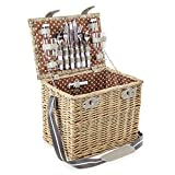 Coast & Country 4 Person Deep Willow Wicker Picnic Hamper CC10006