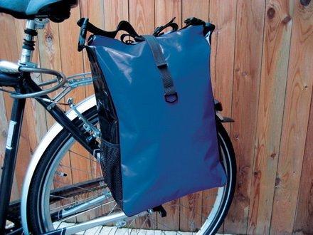 Fahrradtasche aus Tarpaulin - LKW Plane in 4 verschiedenen Farben (Blau)