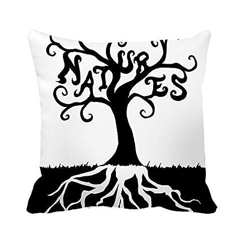 Wunderschöne Baum tamengi Baumwolle Art Design Custom quadratisch dekorativer Überwurf-Kissenbezug, 50 % Baumwolle / 50 % Polyester, #10, (Benutzerdefinierte Body Art)