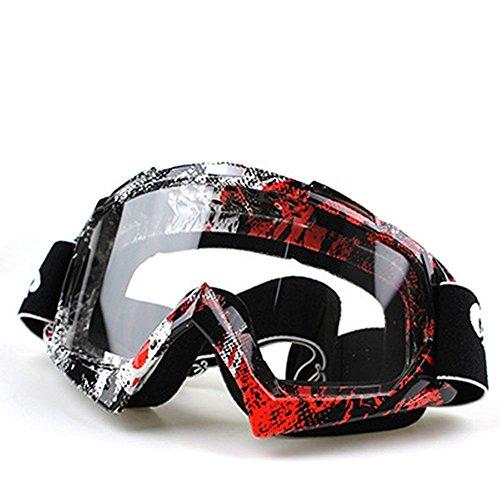 Bestowal [occhiali motocross] [occhiali da sci] - occhiali sportivi unisex occhiali sportivi anti-nebbia da sci occhiali antisdrucciolevoli antisdrucciolevoli antivegetativi per motociclisti (p392-2)