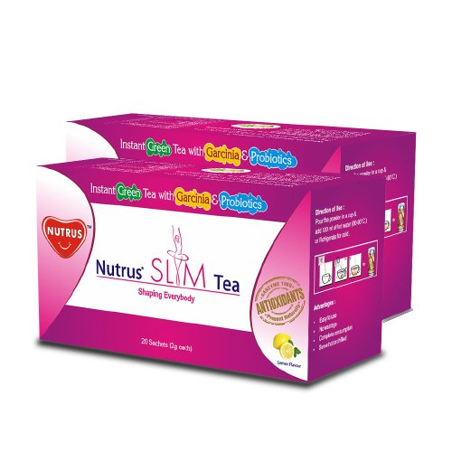 NUTRUS Slim Tea 20'sachets (Lemon)pack of 2  available at amazon for Rs.360