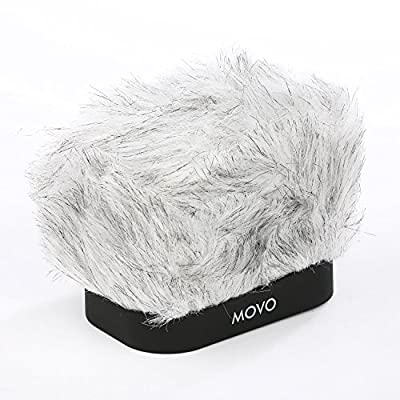 Movo WS-R30 Professional Furry Windscreen with Acoustic Foam Technology for Zoom H4n, H5, H6, Tascam DR-40, DR-100 MKII & Sony PCM-D50 Portable Digital Recorders