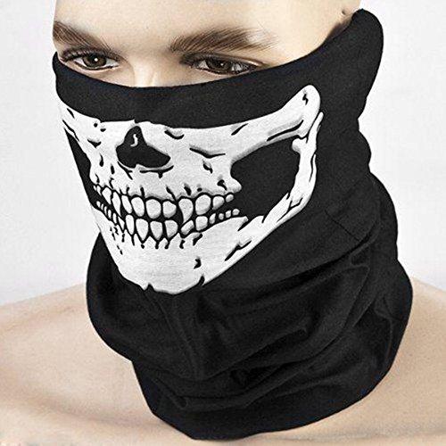nahtlose Schädel Gesicht Schlauch Maske Motorrad Gesichtsmaske Sturmhaube zum Skifahren ()