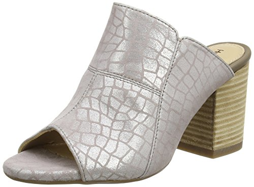 Hush Puppies Sayer Malia, Tacchi Open-Toe Donna Argento (Metallic Croco)