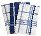 #7: Lushomes Blue Terry Kitchen Towels (Pack of 3)