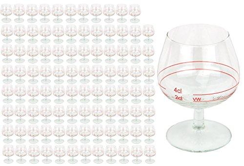 96er Set Cognacschwenker Casino Mit Rotring 2 Cl 4cl Geeichtes Cognacglas Fr Genieer Mit Fllstrich Likrglas Schnapsglas Fr Edle Tropfen Hochglnzendes Markenglas Spirituosenglas Klar