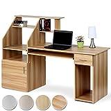 Miadomodo Schreibtisch Bürotisch mit ausfahrbarer Tastaturablage und vielen Ablagemöglichkeiten in 4 verschiedenen Farben