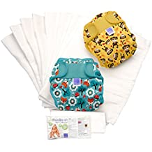 Bambino Mio Miosoft - Set de pañales de tela, diseño unisex, talla 1, < 9 kg