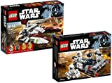 LEGO Star Wars 75182 - Republic Fighter Tank + LEGO Star Wars 75166 - Battle Pack - First Order Transport Speeder
