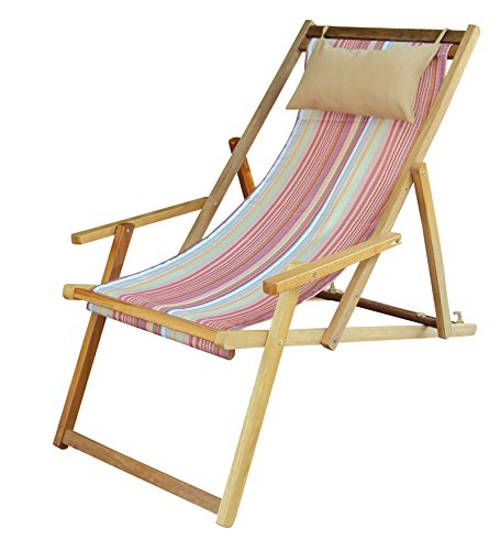 Hangit Easy deck wooden chair furniture for adult for home garden (Tango Stripes)