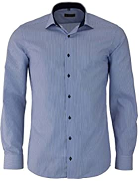 ETERNA long sleeve Shirt SLIM FIT Twill striped