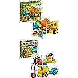 Lego Duplo 10812 - Bagger und Lastwagen, Ideales Geschenk für 2 Jährige + Meine ersten Fahrzeuge, Spielzeug für 2 Jährige