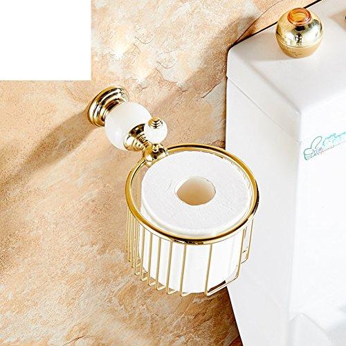 Europaweite Kupfer Toilettenpapier Box/Goldfarbe Papierhandtuchhalter/Continental Toilette Mülleimer/Toilettenpapierhalter/Handschale/Badezimmer Regal