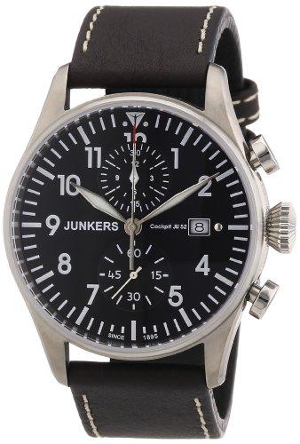 Junkers Herren-Armbanduhr XL Chronograph Quarz Leder 6178-2