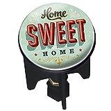 WENKO 21245100 Waschbeckenstöpsel Pluggy® Sweet Home - Abfluss-Stopfen, für alle handelsüblichen Abflüsse, Kunststoff, 3.9 x 6.5 x 3.9 cm, Mehrfarbig