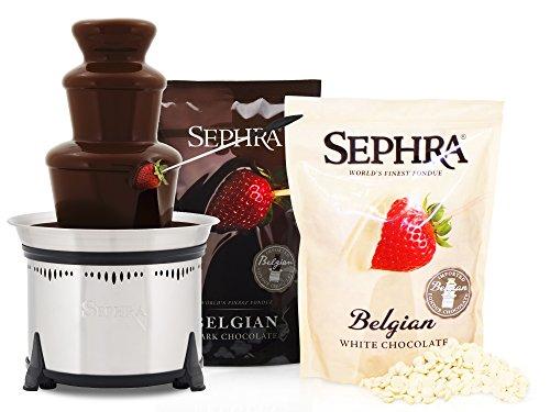 Fontana di cioccolato Sephra Classic (46cm) + Sephra di cioccolato fondente 2,5 kg + Sephra di cioccolato bianco 2,5 kg