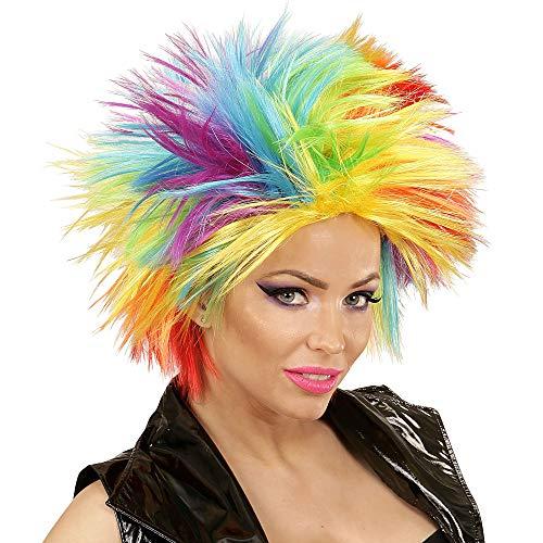 Widmann 04403 Punk-Perücke, Unisex- Erwachsene, mehrfarbig