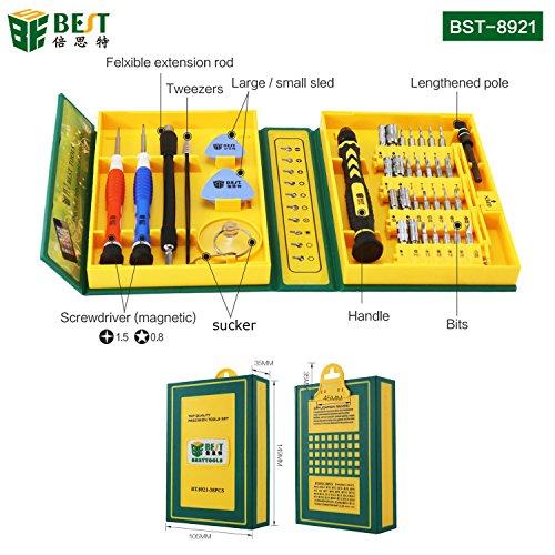 BEST TOOL - Universal Werkzeugset 38-teilig für Smartphone/Handy/Laptop/PC/iPhone/MacBook Schraubendreher Set Repair Tool Kit - BST-8921