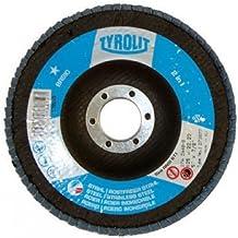 Tyrolit 273873 - Pack de 10 discos de lijado (diámetro de 125 mm, grano 60)