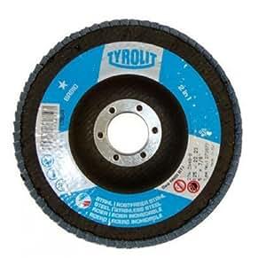 Aparoli Tyrolit 273872 Lot de 10 disques à lamelles Ø 125 mm grain 40