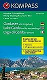 Gardasee und Umgebung - Lake Garda and its surroundings - Lago di Garda e dintorni: Wanderkarten-Set mit Radrouten und Panorama. GPS-genau. 1:35000 (KOMPASS-Wanderkarten, Band 697)