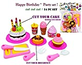 #8: Jiada Birthday Party Cake Cutting Set Toy for Kids | Pretend Play Set (24 Pcs)