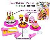 #9: Jiada Birthday Party Cake Cutting Set Toy for Kids | Pretend Play Set (24 Pcs)