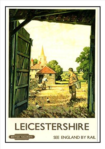 425Leicestershire-Railway Seaside Classic Oldschool Best Farbe Foto Bild Einzigartige Print A4Nachdruck Poster