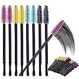 200 Pieces Disposable Mascara Wands Eyelash Brushes Eyebrow Makeup Applicator, Multicolor