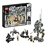LEGO Star Wars Clone Scout Walker, Edizione 20° Anniversario, con Trooper di Kashyyyk, Wookiee e Minifigure di Darth Vader, Rappresentazione della Versione Originale del 1999, Set di Costruzioni 75261
