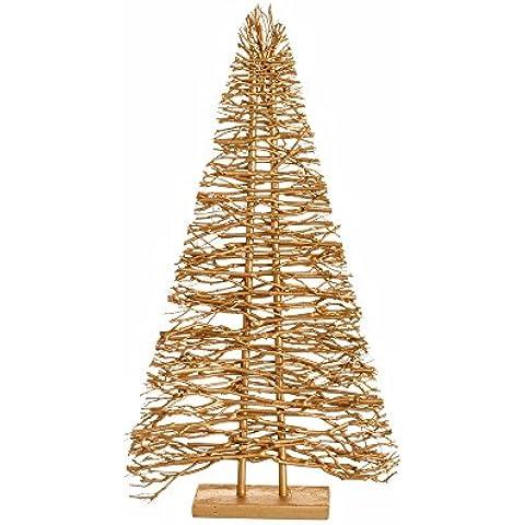 Arbolito de Navidad moderno dorado de madera para decoración navideña Christmas