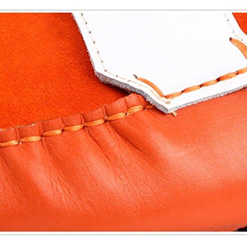 Scarpe Uomo in Pelle Scarpe da uomo Scarpe casual da donna in pelle nabuk ( Colore : Bianca , dimensioni : EU 41/UK7 ) Arancia