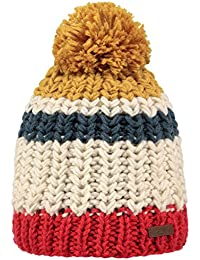 Barts Mens Colton Hand Knitted Fleece Lined Acrylic Beanie Bobble Hat