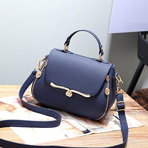 CengBao Ms. borse tracolla nuova marea selvaggio coreano un Algebra lineare confezione piccola elegante e semplice mano Ladies borse, Po Lam Blu zaffiro